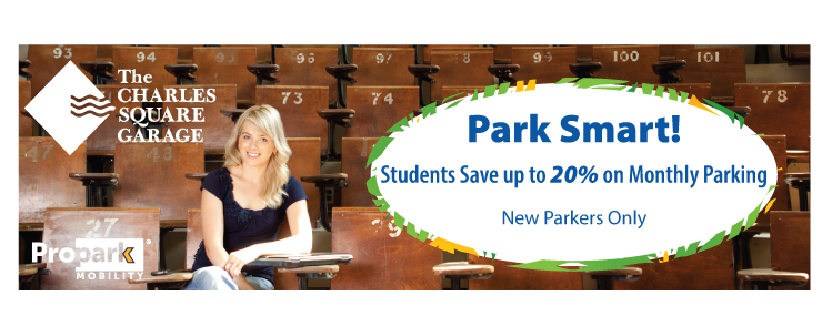 Park Smart! Students Save up to 20% on Monthly Parking - New Parkers Only