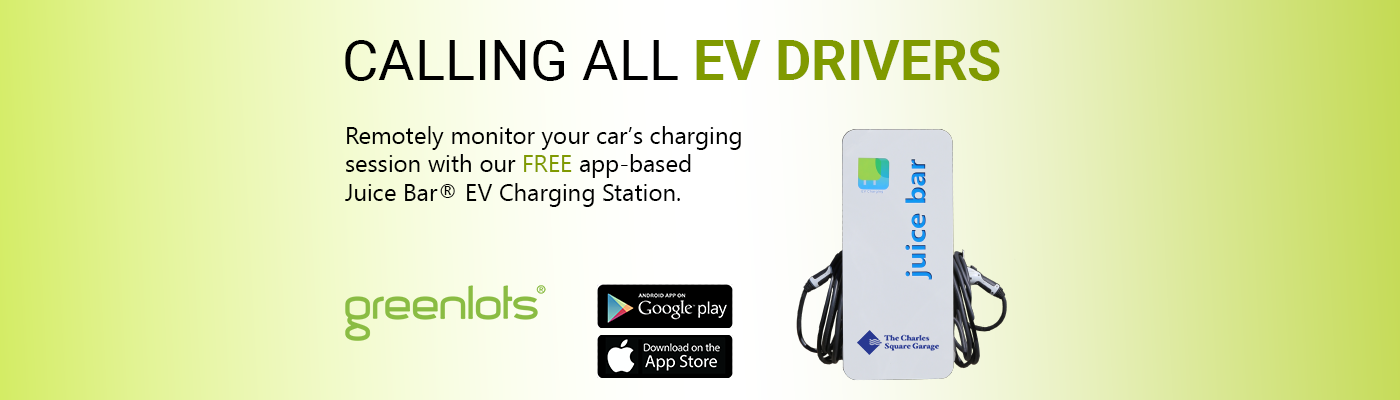 Remotely Monitor your car's charging session with our FREE app-based Juice Bar EV charging station